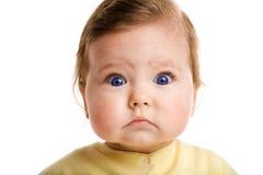 吃惊的婴孩 库存图片