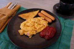 吃早餐早晨 免版税库存图片