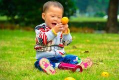 吃果子有益于健康 库存照片
