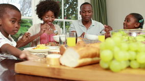 吃的家庭晚餐一起 股票录像
