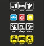 吃睡眠特技 库存图片