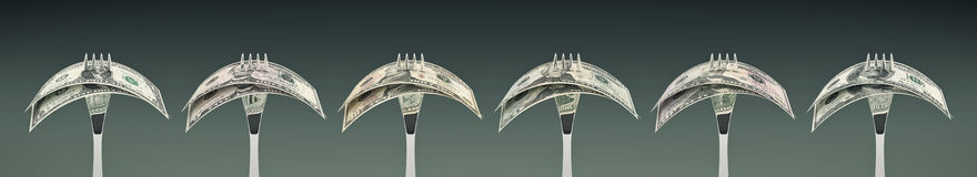 吃美元-企业成功的概念 免版税库存图片