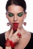 我喜欢草莓 免版税库存照片