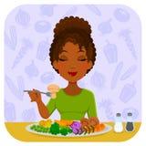 吃蔬菜 图库摄影