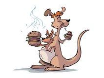 吃袋鼠 皇族释放例证
