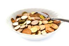 吃货币 免版税图库摄影