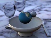 吃资源的地球 免版税库存照片