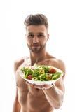 吃这美妙的健康食物 免版税库存图片