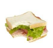 吃食物膳食三明治快餐 免版税图库摄影