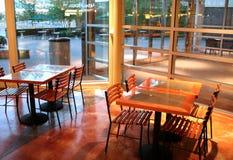 吃餐馆的区 免版税库存照片
