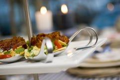 吃饭的客人冬天 免版税库存照片