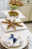 吃饭的客人冬天 库存图片