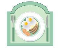 吃饭的客人符号 免版税库存图片
