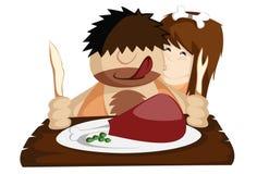 吃Paleo晚餐! 图库摄影