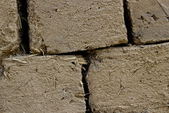 各式各样的风干砖坯 免版税图库摄影
