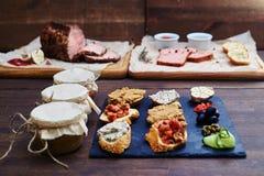 各种各样不同的食物,烹饪品种 库存照片