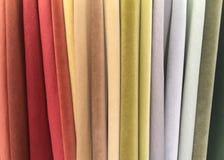 各种各样五颜六色的绒面革织品 免版税图库摄影