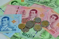 各种各样泰国钞票 免版税库存照片