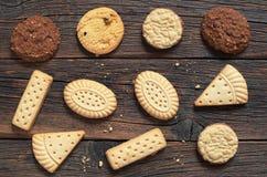各种各样的一种油脂含量较高的酥饼 免版税库存图片