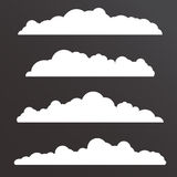 各种各样的云彩的汇集与大长的形状的 向量例证