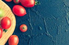 各种各样的五颜六色的蕃茄 库存照片