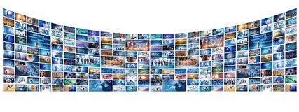 各种各样的企业概念拼贴画  图库摄影