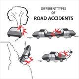 各种各样的公路事故 免版税库存图片