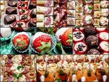 各种各样的可口开胃菜和甜点 库存图片