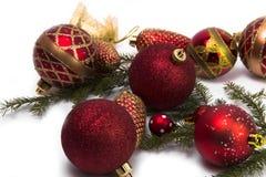 各种各样的圣诞树中看不中用的物品 库存照片