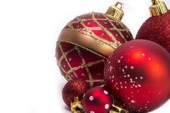 各种各样的圣诞树中看不中用的物品 免版税库存图片