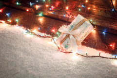 各种各样的圣诞节礼物在家 图库摄影