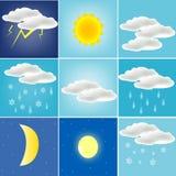 各种各样的天气 库存照片