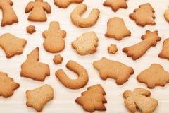 各种各样的姜饼曲奇饼 免版税库存图片