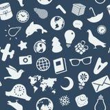各种各样的对象和标志的样式 免版税库存图片