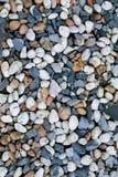 各种各样的小卵石石头 库存照片