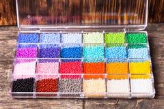 各种各样的小珠 免版税库存照片