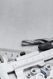 各种各样的工具和仪器为修理和手工 免版税库存图片