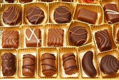 各种各样的巧克力糖 免版税库存照片