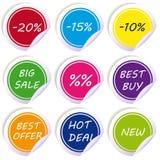 各种各样的折扣标记&标签 免版税库存图片