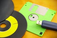 各种各样的数字资料存贮设备 免版税图库摄影