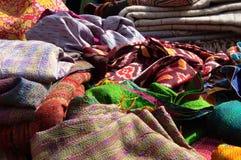 各种各样的材料许多织品  免版税库存照片