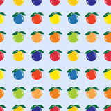 各种各样的果子,无缝的样式 免版税库存图片