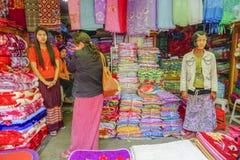 各种各样的物品在缅甸市场,缅甸上 库存照片