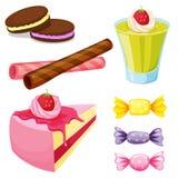 各种各样的甜点 图库摄影