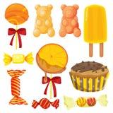 各种各样的甜点 库存照片