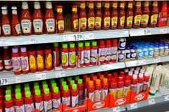 各种各样的番茄酱 库存照片