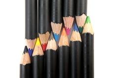 各种各样的着色铅笔 库存照片