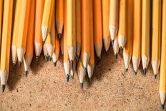 各种各样的石墨铅笔 图库摄影