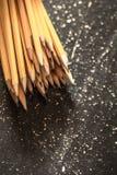 各种各样的石墨铅笔 免版税库存照片