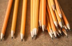 各种各样的石墨铅笔 免版税图库摄影